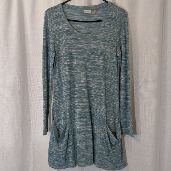LOGO by Lori Goldstein Green Tunic Sz M